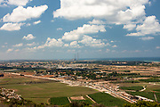 Israel, Coastal plains as seen from the Carmel mountain Mediterranean sea in the background