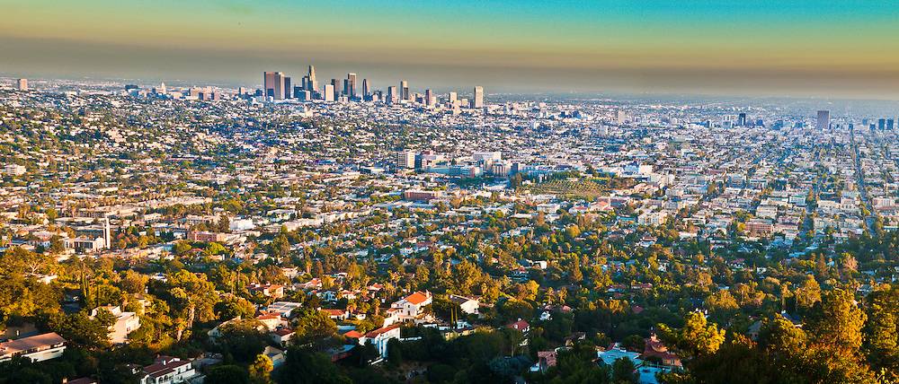 Panoramic view of los angeles california usa mark a johnson photographer - Panoramic les angles ...