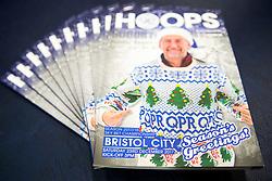Festive QPR v Bristol City matchday programmes in the Bristol City dressing room - Rogan/JMP - 23/12/2017 - Loftus Road - London, England - Queens Park Rangers v Bristol City - Sky Bet Championship.
