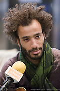Portrait en direct de Karim Dabo lors de l'émission radiophonique Francophonie Express  à  Le Mount Stephen / Montreal / Canada / 2019-03-11, Photo © Marc Gibert / adecom.ca