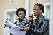 CAPE TOWN, SOUTH AFRICA - Wednesday 01 June 2016, a group of University of Cape Town students protesting outside Bremner Building, the office of the Vice Chancellor, Dr Max Price.<br /> Photo by Roger Sedres/ImageSA