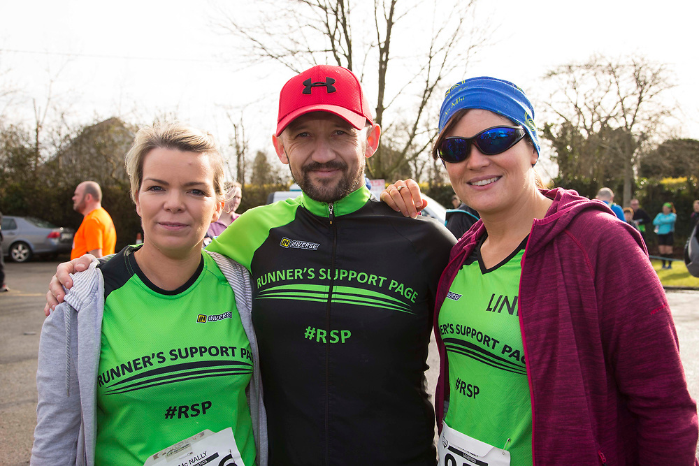 12/03/2017, Bohermeen AC 10k road Race & Half Marathon<br /> Pictured at the event, L-R, Ruth Friel, James McGarry & Linda Kinsella (All Navan)<br /> David Mullen / www.cyberimages.net<br /> ISO: 250; Shutter: 1/250; Aperture: 7.1; <br /> File Size: 2.5MB<br /> Actuations: