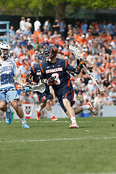 CHAPEL HILL, NC - APRIL 11: Tim Barber #9 of Syracuse Orange plays against the North Carolina Tar Heels on April 11, 2015 at Fetzer Field in Chapel Hill, North Carolina. North Carolina won 17-15. (Photo by Peyton Williams/US Lacrosse/Getty Images) *** Local Caption *** Tim Barber