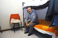 Roma 6 Novembre 2007.Un  ospite italiano della Ostello Stazione Termini Caritas  di Via Marsala.A guest of the hostel Caritas of Street Marsala.