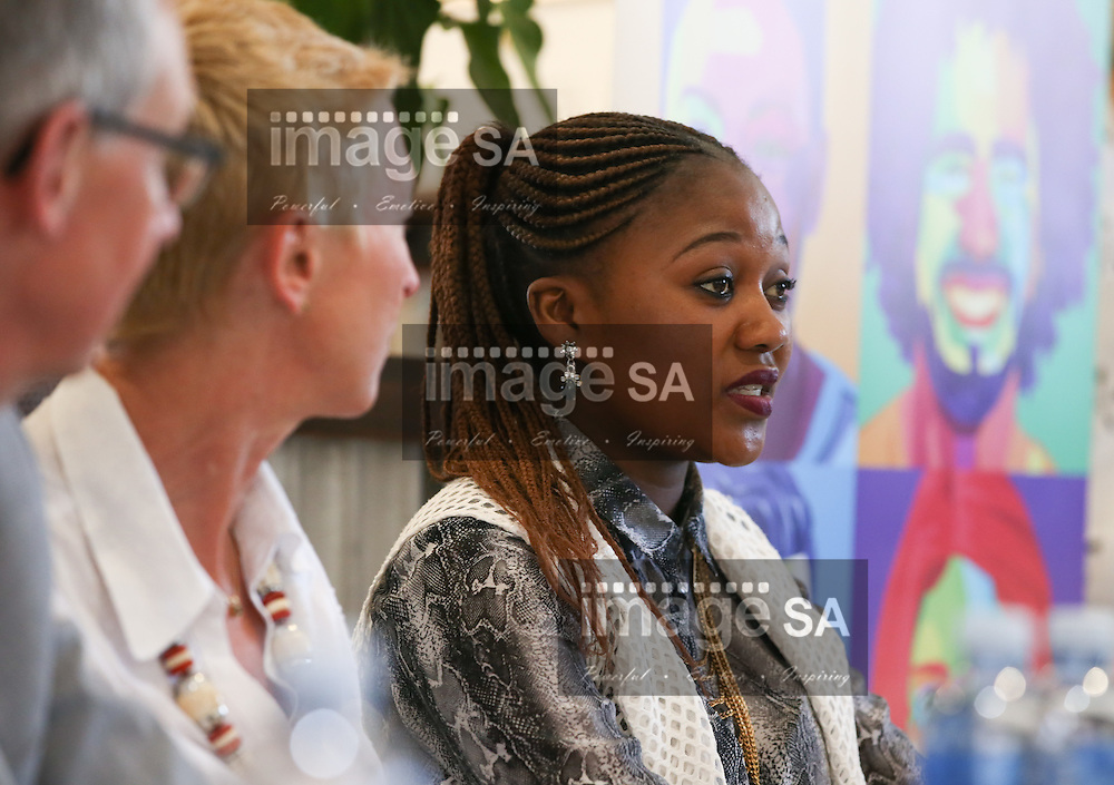CAPE TOWN, SOUTH AFRICA - Wednesday 30 November 2016, Ms Launa Jack, (21) a participant in the HVTN 702 study and a second year Public Relations student at the Cape Peninsula University of Technology (CPUT) during the launch of a major study to test the efficacy of a vaccine to prevent HIV infection at the Emavundleni Research Centre in Old Crossroads, Cape Town. With more than 1 000 people in South Africa becoming infected with HIV each day, a successful HIV vaccine is seen as the key to ending the epidemic. This new preventive vaccine efficacy trial, called HVTN 702, is a critically important study and its start is a special moment in HIV research. HVTN 702 is the only current HIV vaccine efficacy trial in the world and is being conducted solely in South Africa. It has been seven years since the world last saw the start of an efficacy trial of an HIV vaccine. The South African study will test a modified form of the vaccine regimen used in RV144, a trial conducted in Thailand, which reported in 2009 that the candidate vaccine was 31.2% effective in preventing new HIV infections 3.5 years after first vaccination. HVTN 702 builds on the foundation of the promising Thai trial findings and seeks to increase the level of efficacy and durability of the vaccine response. If HVTN 702 is shown to be effective against new infections, this South African trial could lead to the licensing of the world&rsquo;s first HIV vaccine.<br /> Photo by Roger Sedres/ImageSA