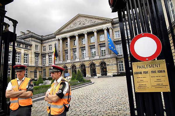 Belgie, Brussel, 28-7-2011Gebouw van het Belgische parlement in de wetstraat.Foto: Flip Franssen/Hollandse Hoogte