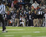 Ole Miss' Randall Mackey (1) makes a 68 yard reception vs. Texas A&M in Oxford, Miss. on Saturday, October 6, 2012. Texas A&M won 30-27...