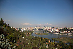 View from the Pierre Lotti Cafe, one of the most expansive views over the Golden Horn in Istanbul, Istanbul, Istanbul, Turkey, September 2012. Photo by Silvia Baron / i-Images.