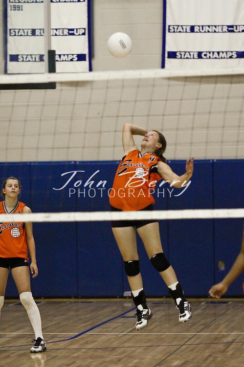 MCHS Varsity Volleyball .vs Clarke.9/30/2008