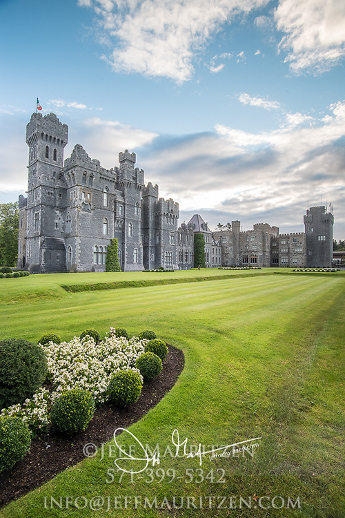 Ashford Castle, a 13th century castle turned into a 5 star luxury hotel.