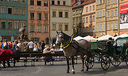 View in the Old Town Market square,Warsaw.