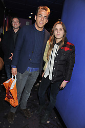 WILL WELLS and VIOLET HESKETH at a private screening of the film The Iron Lady hosted by nightclub Maggie's held at Cineworld, King's Road, London on 19th January 2012.