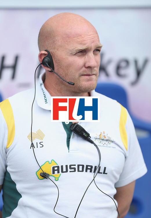 LONDON, ENGLAND - JUNE 21: Australia coach Adam Commens during the FIH Women's Hockey Champions Trophy match between Australia and Argentina at Queen Elizabeth Olympic Park on June 21, 2016 in London, England.  (Photo by Alex Morton/Getty Images)
