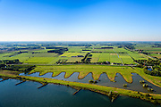 Nederland, Gelderland, Everdingen, 30-09-2015;  Goilberdinger Waarden, uiterwaarden van de Lek. Waterberging en natuurgebied in ontwikkeling.<br /> Floodplains of the river Lek. Water storage and natural development.<br /> luchtfoto (toeslag op standaard tarieven);<br /> aerial photo (additional fee required); copyright foto/photo Siebe Swart.