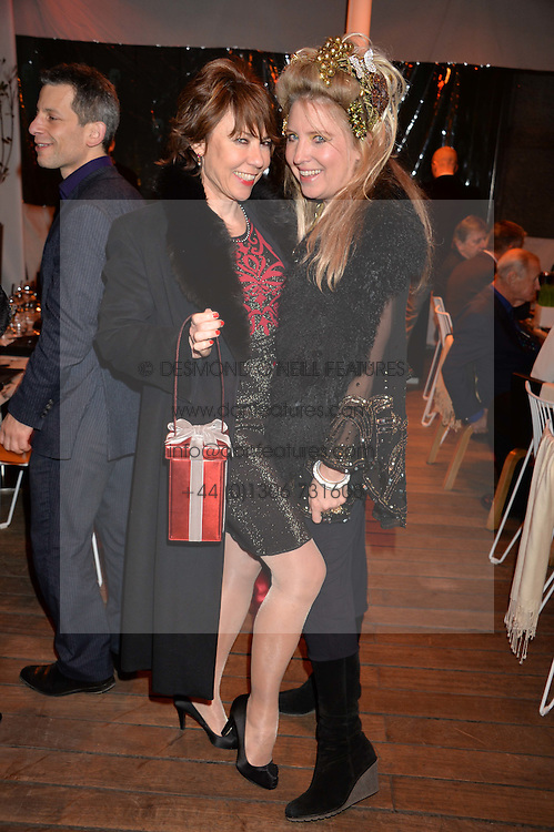 Left to right, KATHY LETTE and KATRINE BOORMAN at the Liberatum Cultural Honour For Sir Terence Conran Dinner held at the Sanderson Hotel, Berners Street, London on 19th November 2013.