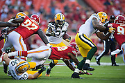 KANSAS CITY, MO - AUGUST 29:  Eddie Lacy #27 of the Green Bay Packers runs the ball during the last preseason game against the Kansas City Chiefs at Arrowhead Stadium on August 29, 2013 in Kansas CIty, Missouri.  (Photo by Wesley Hitt/Getty Images) *** Local Caption *** Eddie Lacy