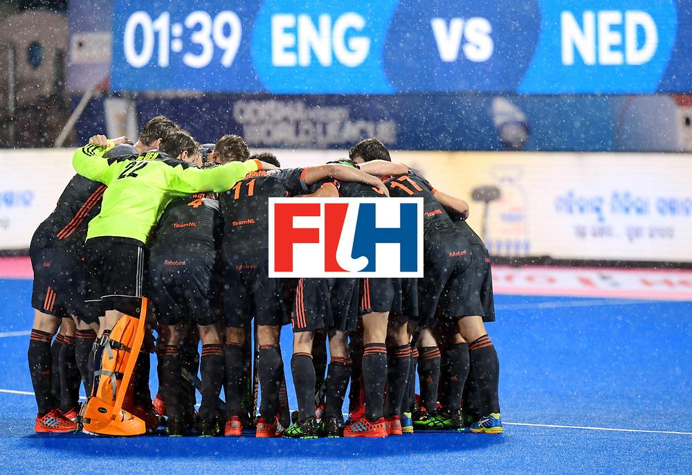 Odisha Men's Hockey World League Final Bhubaneswar 2017<br /> Match id:17<br /> England v Netherlands<br /> Foto: Line Up<br /> COPYRIGHT WORLDSPORTPICS FRANK UIJLENBROEK
