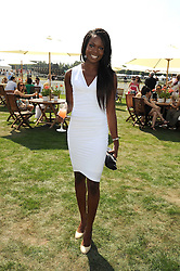 AITA IGHODARO at the Cartier International Polo at Guards Polo Club, Windsor Great Park on 27th July 2008.<br /> <br /> NON EXCLUSIVE - WORLD RIGHTS