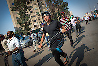 "After receiving a degree of ""training"" in anticipation of clashes with anti-Morsi protesters, Muslim Brotherhood members took again to the streets. ""We are prepared to protect the legal constitution,"" one demonstrator said."
