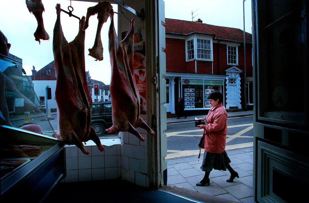 View of Uckfield  from family butcher's shop February 1999