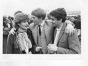 Nicky Frizzell; Harry Offer; Thomas Bruce-Gardyne. Bullingdon Point to Point. Kingston Blount. 1984.  *** Local Caption *** -DO NOT ARCHIVE-? Copyright Photograph by Dafydd Jones 66 Stockwell Park Rd. London SW9 0DA Tel 020 7733 0108 www.dafjones.com