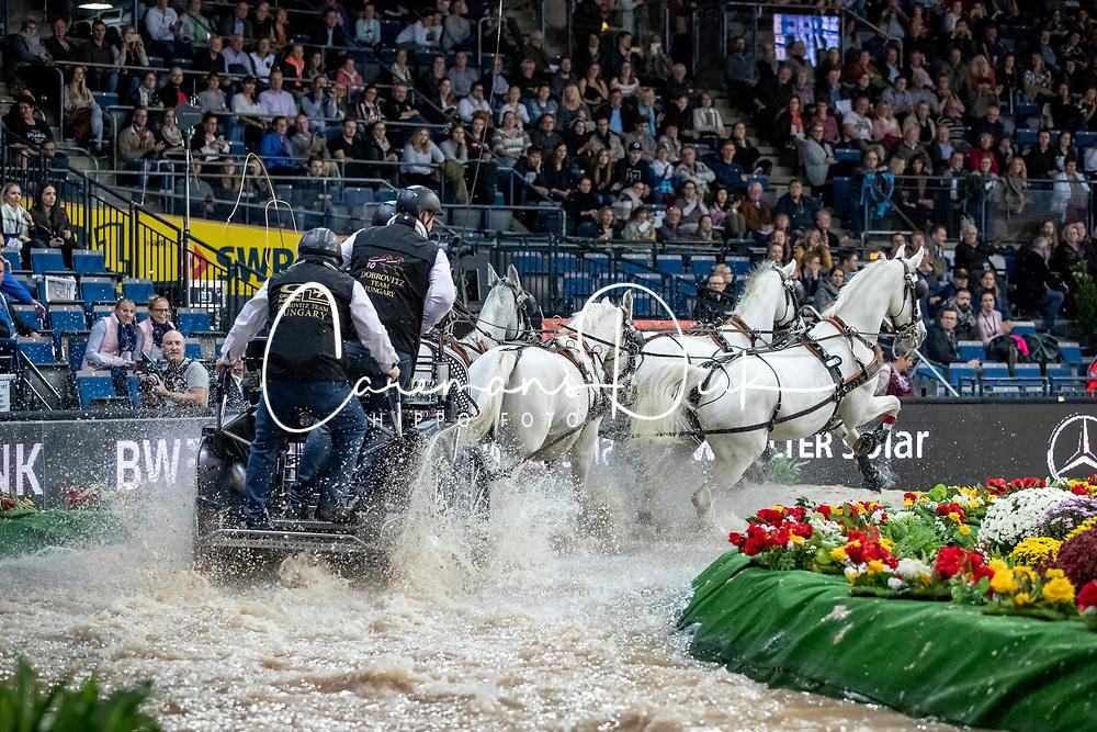 Dobrovitz Jozsef, HUN, Harco, Panda, Siglavy Capriola, Tulipan<br /> FEI World CupTM Driving - Stuttgart 2018<br /> © Hippo Foto - Stefan Lafrentz<br /> 16/11/2018