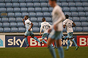 Coventry City forward Marvin Sordell (17) scores a goal and celebrates to make the score 1-1 during the The FA Cup match between Coventry City and Morecambe at the Ricoh Arena, Coventry, England on 15 November 2016. Photo by Simon Davies.