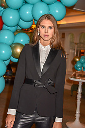 Sabrina Percy at the launch of the Fortnum & Mason Christmas & Other Winter Feasts Cook Book by Tom Parker Bowles held at Fortnum & Mason, 181 Piccadilly, London, England. 17 October 2018.