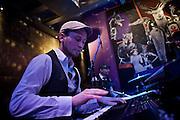 Frankfurt am Main | 19 Dec 2013<br /> <br /> Rola &amp; Alive Band live im Travolta in der Br&ouml;nnerstra&szlig;e in Frankfurt am Main, hier: Keyboarder Markus Giegerich spielt ein Solo.<br /> <br /> &copy;peter-juelich.com<br /> <br /> [No Model Release | No Property Release]