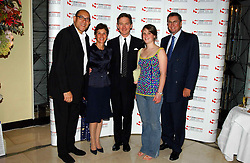 """Left to right, BRUCE OLDFIELD, GEORGINA ANDREWS, Actor ANTHONY ANDREWS, his daughter AMY SAMANTHA ANDREWS and LORD ASHCROFT at a party to celebrate the publication of Bruce Oldfield's autobiography """"Rootless"""" held in aid of Crimestoppers at Claridge's, Brook Street, London W1 on 22nd September 2004.<br /><br />NON EXCLUSIVE - WORLD RIGHTS"""