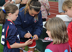 Bristol Academy Womens' Natasha Harding signs autographs for fans - Photo mandatory by-line: Dougie Allward/JMP - Mobile: 07966 386802 - 28/09/2014 - SPORT - Women's Football - Bristol - SGS Wise Campus - Bristol Academy Women's v Manchester City Women's - Women's Super League