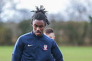\York City defender, on loan from Arsenal, Stefan OConnor  York City FC Training Session at Bootham Crescent, York, England on 27 November 2015. Photo by Simon Davies.