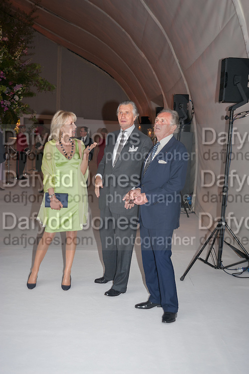 LADY HINDLIP; ARNAUD BAMBERGER; LORD HINDLIP, CARTIER CHELSEA FLOWER SHOW DINNER Dinner hosted by Cartier in celebration of the Chelsea Flower Show was held at Battersea Power Station. 22 May 2012