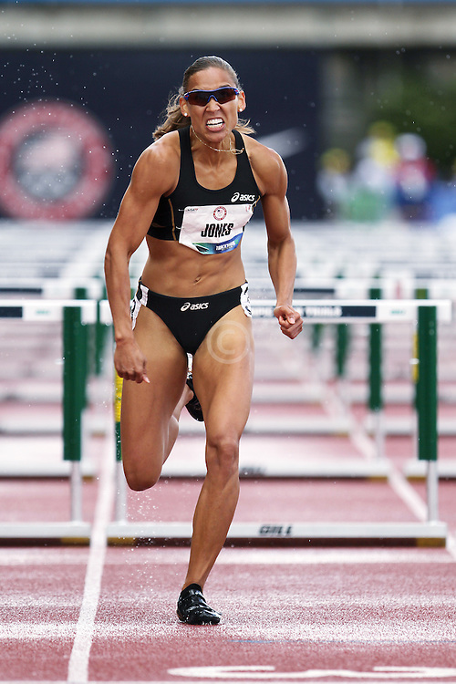Olympic Trials Eugene 2012: womens' 100 meter hurdles, Lolo Jones,