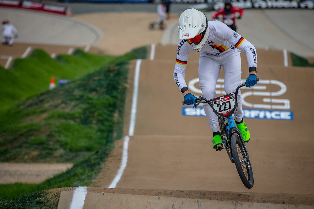 #227 (WEBSTER Liam) GER at Round 2 of the 2020 UCI BMX Supercross World Cup in Shepparton, Australia.