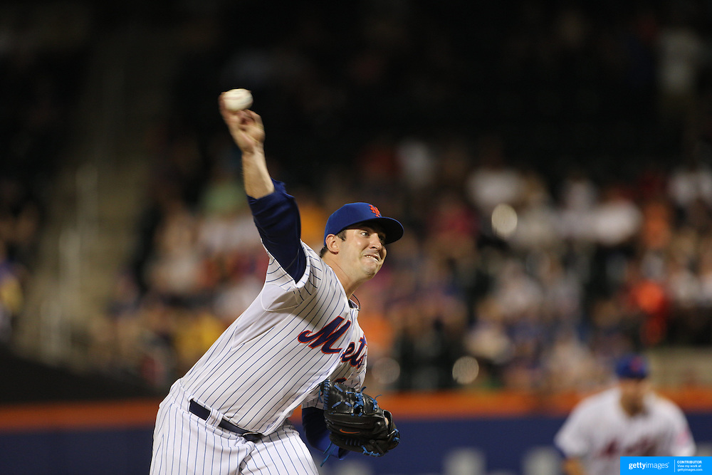 Pitcher Matt Harvey, New York Mets, pitching during the New York Mets Vs Toronto Blue Jays MLB regular season baseball game at Citi Field, Queens, New York. USA. 16th June 2015. Photo Tim Clayton