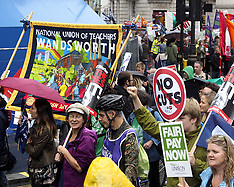 JUL 10 2014 London anti wage freeze demo