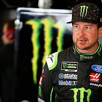 February 23, 2018 - Hampton, Georgia, USA: Kurt Busch (41) hangs out in the garage during practice for the Folds of Honor QuikTrip 500 at Atlanta Motor Speedway in Hampton, Georgia.