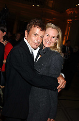 NICKY HASLAM and ALANNAH WESTON at the opening of a new exhibition 'Diane Arbus Revelations' a major retospective of the Legendary New York Photographer at the V&A museum on 11th October 2005.<br />