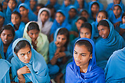 Students of government school in their classrooms in Bettiah, Bihar