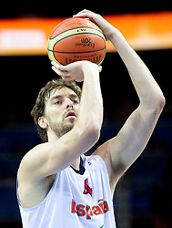 Pau Gasol of Spain during final basketball game between National basketball teams of Spain and France at FIBA Europe Eurobasket Lithuania 2011, on September 18, 2011, in Arena Zalgirio, Kaunas, Lithuania. (Photo by Vid Ponikvar / Sportida)