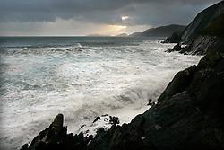 IRELAND KERRY DINGLE 3NOV05 - Coastal landscape at Slea Head with the Blasket Islands in the background off the Dingle Peninsula, Irelands most westerly county...jre/Photo by Jiri Rezac..© Jiri Rezac 2005..Contact: +44 (0) 7050 110 417.Mobile: +44 (0) 7801 337 683.Office: +44 (0) 20 8968 9635..Email: jiri@jirirezac.com.Web: www.jirirezac.com..© All images Jiri Rezac 2005 - All rights reserved.