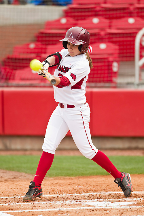 University of Arkansas Razorback Women's Softball team action photography in Fayetteville, Arkansas during the 2010-2011 season.