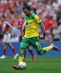 Bradley Johnson Norwich, Middlesbrough v Norwich, Sky Bet Championship, Play Off Final, Wembley Stadium, Monday  25th May 2015