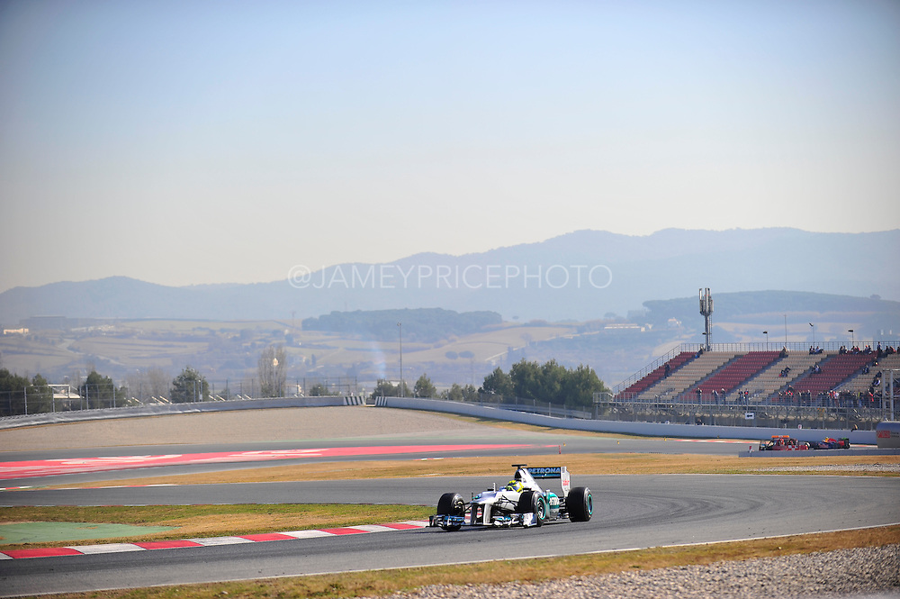 Nico Rosberg (GER) drives the Mercedes AMG Petronas F1W03   Formula One Testing, Circuit de Catalunya, Barcelona, Spain, World Copyright: Jamey Price