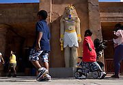 A lego pharaoh stands outside the Lost Kingdom Adventure in Legoland in Whitehaven, Florida on February 11, 2012.