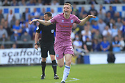 GOAL Ethan Hamilton celebrates scoring 0-1 during the EFL Sky Bet League 1 match between Bristol Rovers and Rochdale at the Memorial Stadium, Bristol, England on 22 April 2019.