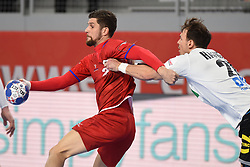 19.01.2018, Varazdin Arena, Varazdin, CRO, EHF EM, Herren, Deutschland vs Tschechien, Hauptrunde, Gruppe 2, im Bild Ondrej Zdrahala. // during the main round, group 2 match of the EHF men's Handball European Championship between Germany and Czech Republic at the Varazdin Arena in Varazdin, Croatia on 2018/01/19. EXPA Pictures © 2018, PhotoCredit: EXPA/ Pixsell/ Vjeran Zganec Rogulja<br /> <br /> *****ATTENTION - for AUT, SLO, SUI, SWE, ITA, FRA only*****