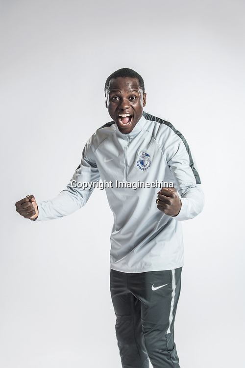 **EXCLUSIVE**Portrait of Zimbabwean soccer player Nyasha Mushekwi of Dalian Yifang F.C. for the 2018 Chinese Football Association Super League, in Foshan city, south China's Guangdong province, 11 February 2018.