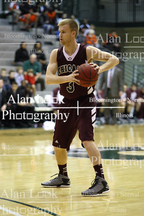 15 December 2012:  Charlie Hughes during an NCAA mens division 3 basketball game between theUniversity of Chicago Maroons and the Illinois Wesleyan Titans in Shirk Center, Bloomington IL